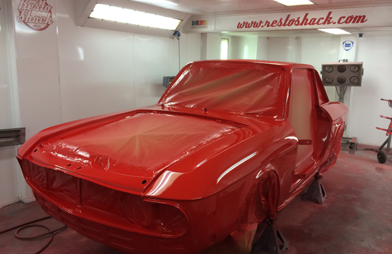 lancia fulvia red fresh paint