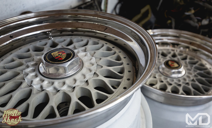 Porsche BBS splitrims closeup