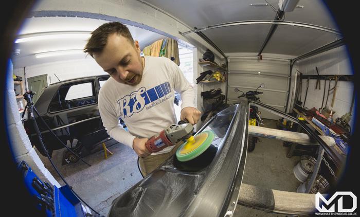 Dave Polishing a Rallye