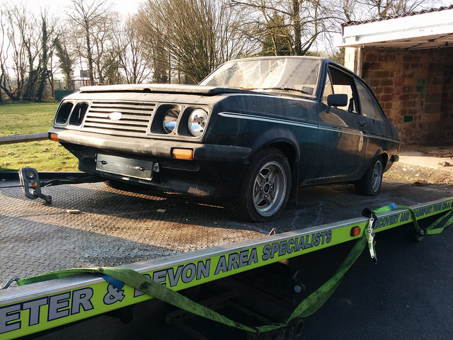 Ford Escort RS2000 picked up
